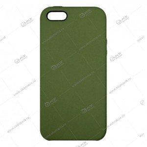 Silicone Case (Soft Touch) для iPhone 5/5S/5SE темно-зеленый