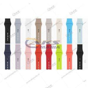 Ремешок силиконовый для Apple Watch 38mm/ 40mm черный