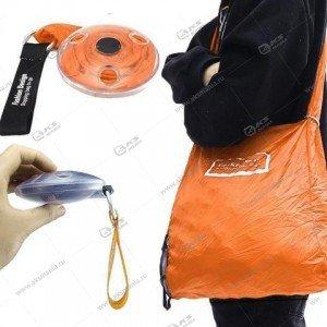 Сумка ультратонкая складная для шоппинга оранжевая