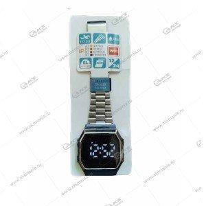 Наручные часы KASIO LED сенсорные серебро