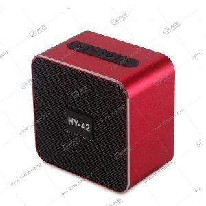 Колонка портативная  HY-42 BT FM TF USB красный