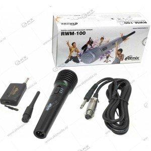 Микрофон Ritmix RWM-100 динамический беспроводной/проводной