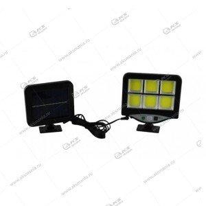 Автономный уличный светодиодный светильник BK-128-6COB с датчиком движения
