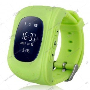 Часы детские Q50 GPS, Будильник, Шагомер зеленый