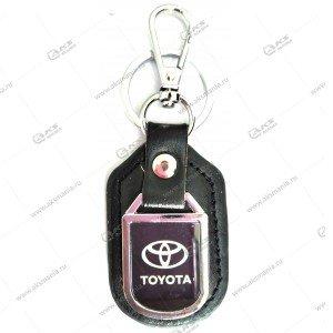 """Брелок для ключей металлический+кожа """"Toyota"""""""