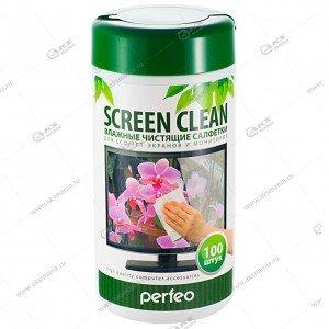 "Perfeo чистящие салфетки ""Screen Clean"" для LCD/TFT экранов и мониторов в тубе 100шт."