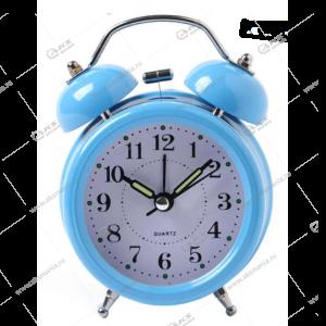 Часы 3010 будильник Quartz 11см голубой