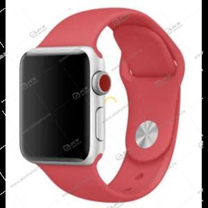 Ремешок силиконовый для Apple Watch 42mm/ 44mm малиново-красный