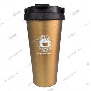 Термокружка Cofee CUP 500мл золотой