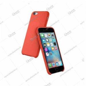 Silicone Case (Soft Touch) для iPhone 6/6S Plus красно-оранжевый