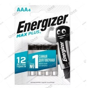 Элемент питания Energizer AAA LR03 Max Plus/4BL