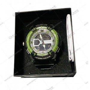 Наручные часы WEODE водонепроницаемые  темно-зеленые