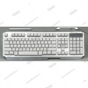 Клавиатура KGK-25U Dialog Gan-Kata - игровая с подсветкой 3 цвета, корпус металл, USB, сереб.