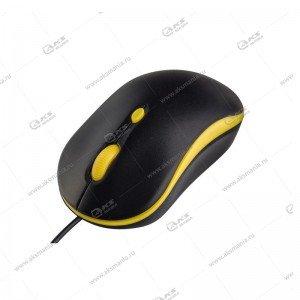 Мышь проводная Perfeo Mount PF_A4511 черно-желтый