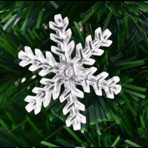 Снежинка пластиковая на ёлку
