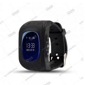 Часы детские Q50 GPS, Будильник, Шагомер черный