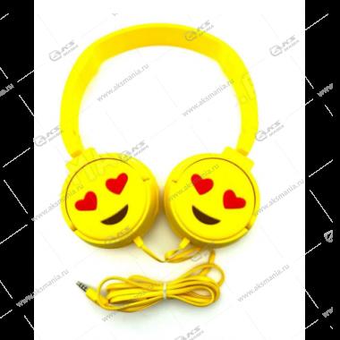Наушники детские KT-3156 смайл глаза сердечки