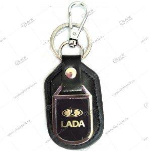 """Брелок для ключей металлический+кожа """"Lada"""""""