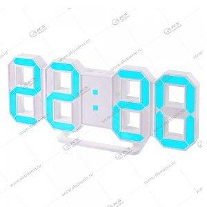 Часы Perfeo Luminous PF-663 белый корпус / синяя подсветка