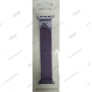 Ремешок миланская петля для Apple Watch 38mm/ 40mm светло-фиолетовый