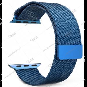 Ремешок миланская петля для Apple Watch 42mm/ 44mm голубой