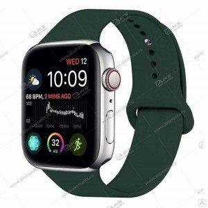 Ремешок силиконовый для Apple Watch 38mm/ 40mm темно-зеленый
