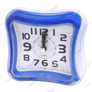 Часы 3019 будильник синий