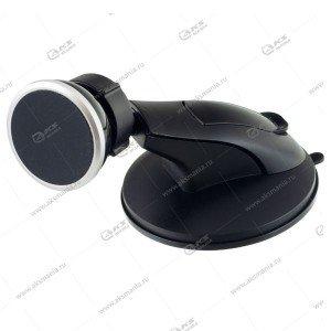 Автодержатель Perfeo PH-513 чёрный для смартфона до 6/на торпеду/магнитный/суперприсоска