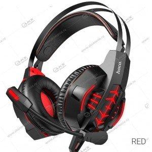 Гарнитура полноразмерная Hoco W102 Cool tour gaming красная