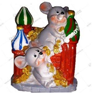 Копилка Мышь с замком 13см-10см цвета разные