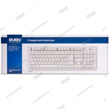 Клавиатура Sven 301 Standard, USB, белая
