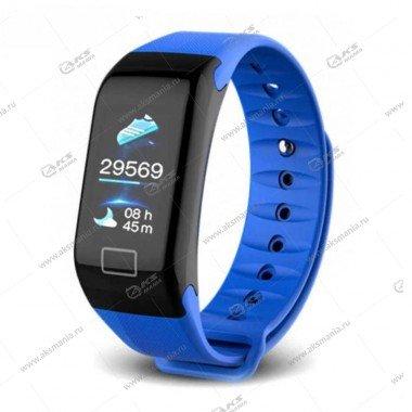 Smart Bracelet F1 Plus Шагомер Пульсометр синий