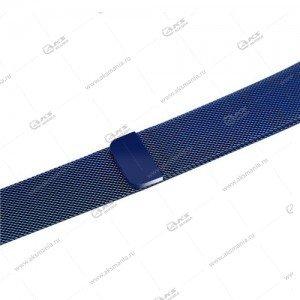Ремешок миланская петля для Apple Watch 38mm/ 40mm темно-синий