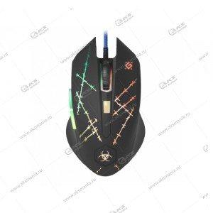 Мышь проводная игровая Defender Forced GM-020L черный