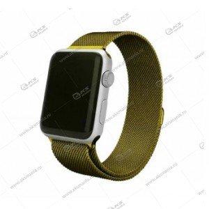 Ремешок миланская петля для Apple Watch 38mm/ 40mm болотный