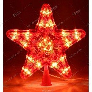Светодиодная Звезда на макушку ёлки красная