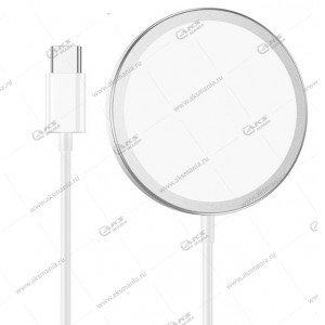 Беспроводное зарядное устройство Borofone BQ9 Pro magnetic wireless fast charger серый металл