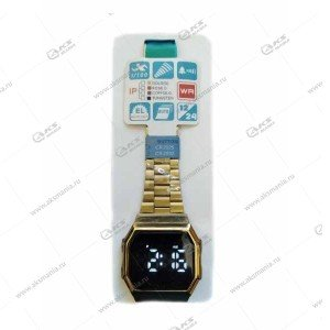 Наручные часы KASIO LED сенсорные золотые