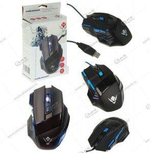 Мышь проводная MOG-21U Nakatomi Gaming mouse - игровая, 7кнопок+ролик прокрутки,USB, чёрная