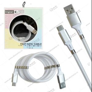 Кабель magnet MR-36 Type-C USB 1м серый