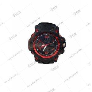 Наручные часы KASIO водонепроницаемые в пластике черно-красные