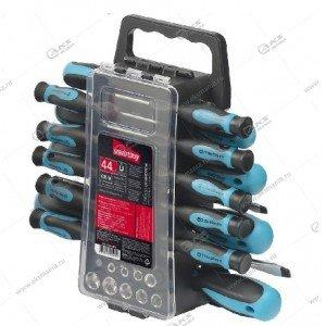 Набор отверток и головок Smartbuy, 44 предмета + SL, PZ, TORX, HEX (SBT-SCN-44P1)
