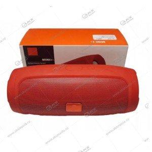 Колонка портативная Charge Mini 3+ BT TF FM красный
