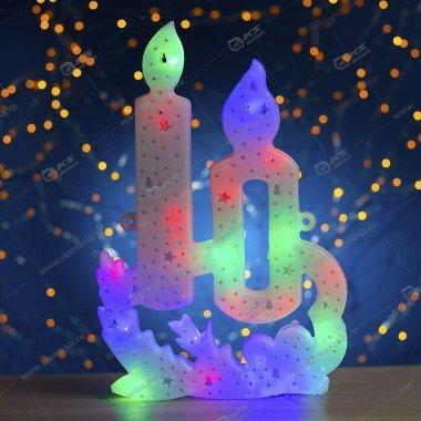 """3D-фигура на стену """"Свечи"""" большая разноцвет."""