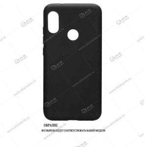 Силикон Huawei Honor 10i матовый черный с глянцевым ободом