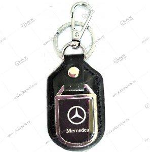 """Брелок для ключей металлический+кожа """"Mercedes-Benz"""""""
