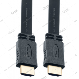 Кабель Perfeo H1303 HDMI A вилка - HDMI A вилка, плоский, ver.1.4, длина 3 м.