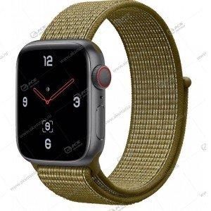 Ремешок нейлоновый для Apple Watch 38mm/ 40mm оливковый