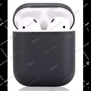 Силиконовый чехол для AirPods Case Protection темно-серый