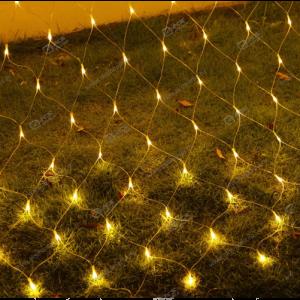 Гирлянда сетка 3х1м белый провод 320LED желтый